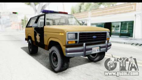 Ford Bronco 1982 Police IVF for GTA San Andreas right view