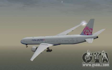 Boeing 777-300ER China Airlines for GTA San Andreas right view