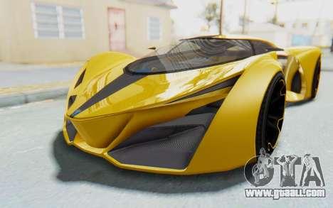 GTA 5 Grotti Prototipo v2 IVF for GTA San Andreas back left view