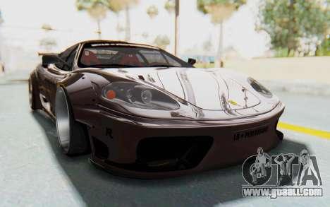 Ferrari 360 Modena Liberty Walk LB Perfomance v1 for GTA San Andreas back left view