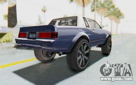 GTA 5 Willard Faction Custom Donk v1 for GTA San Andreas left view