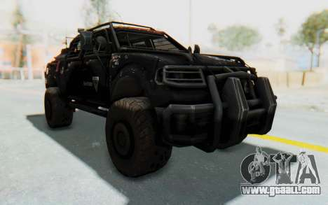 Toyota Hilux Technical Vindicator SecFor for GTA San Andreas right view