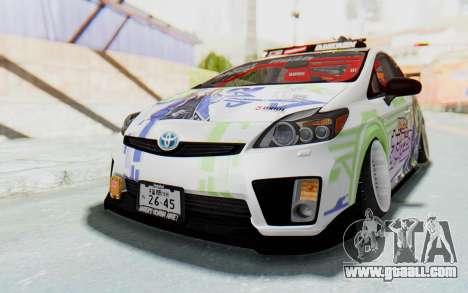 Toyota Prius Hybrid 2011 Hellaflush IF Itasha for GTA San Andreas right view