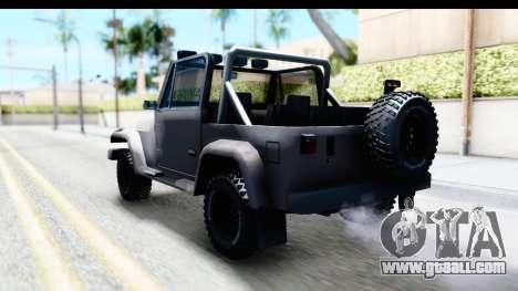 Mesa MAXimum 4x4 for GTA San Andreas back left view
