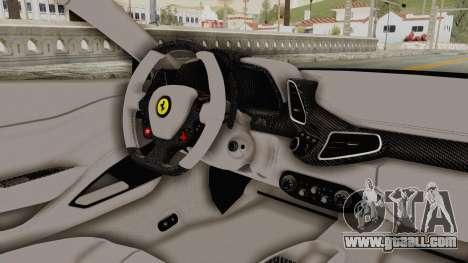 Ferrari 458 VPM Crew for GTA San Andreas inner view