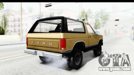 Ford Bronco 1980 IVF for GTA San Andreas left view