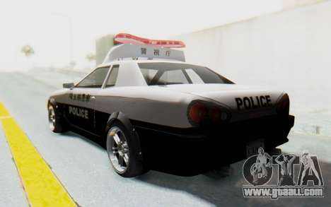 Elegy Japanese Police for GTA San Andreas left view