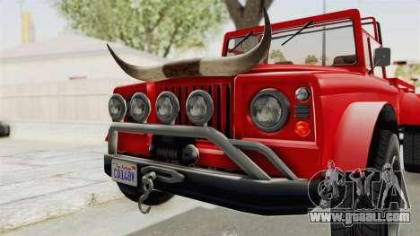 GTA 5 Canis Bodhi IVF for GTA San Andreas inner view