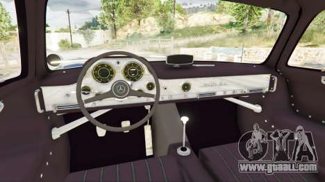 GTA 5 Mercedes-Benz 300SL Gullwing 1955 right side view