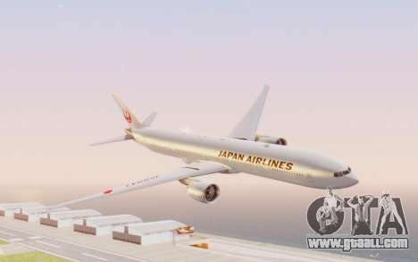 Boeing 777-300ER Japan Airlines v2 for GTA San Andreas back left view