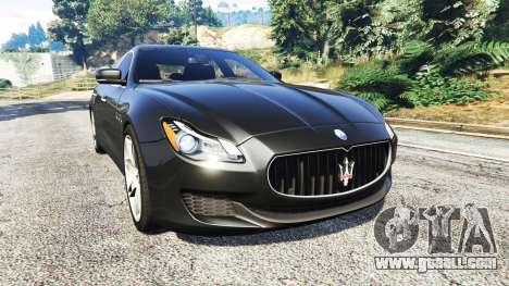 Maserati Quattroporte 2013 for GTA 5