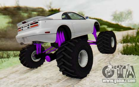 Nissan 300ZX Monster Truck for GTA San Andreas back left view