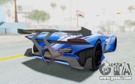 GTA 5 Grotti Prototipo v1 for GTA San Andreas back left view
