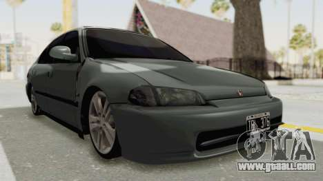 Honda Civic SI Sedan 1992 for GTA San Andreas right view