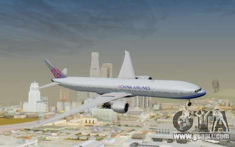 Boeing 777-300ER China Airlines for GTA San Andreas back left view