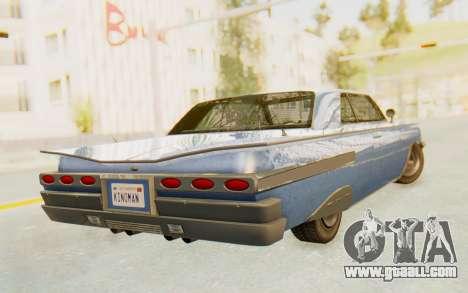 GTA 5 Declasse Voodoo Alternative v1 for GTA San Andreas left view