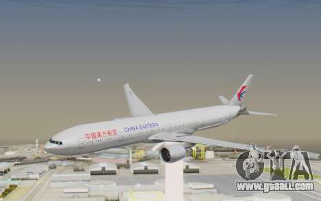Boeing 777-300ER China Eastern Airlines for GTA San Andreas back left view