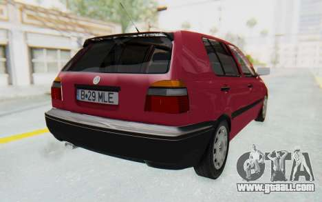Volkswagen Golf 3 1994 for GTA San Andreas back left view