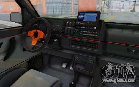 Volkswagen Golf 2 GTI 1.6V for GTA San Andreas inner view