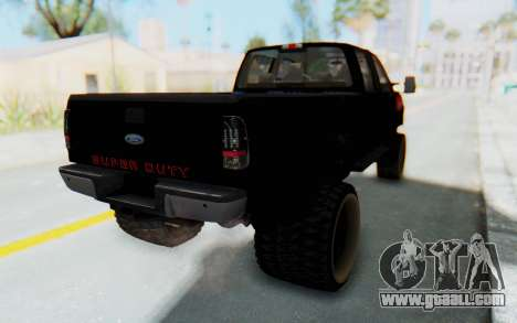 Ford Super Duty Off-Road for GTA San Andreas back left view