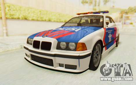 BMW M3 E36 Police Indonesia for GTA San Andreas back view