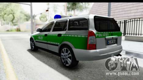 Opel Astra G Variant Polizei Bayern for GTA San Andreas left view