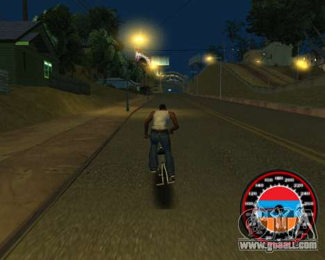 The speedometer in the style of the Armenian fla for GTA San Andreas eighth screenshot