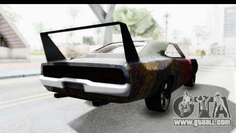 Dodge Charger Daytona F&F Bild for GTA San Andreas back left view