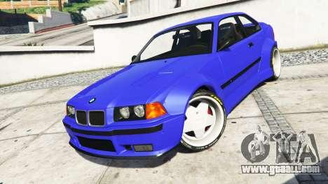 GTA 5 BMW M3 (E36) Street Custom [blue dials] v1.1 steering wheel