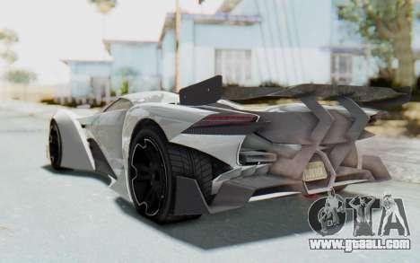 GTA 5 Grotti Prototipo v2 for GTA San Andreas back left view