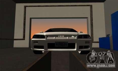 Nissan Skyline ER34 GT-R for GTA San Andreas back view