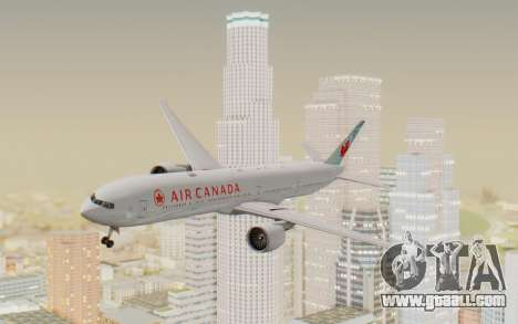 Boeing 777-300ER Air Canada for GTA San Andreas back left view