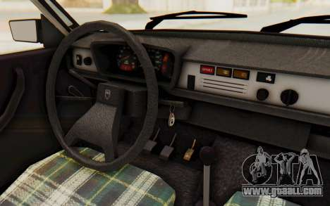 Dacia 1310 TLX for GTA San Andreas inner view