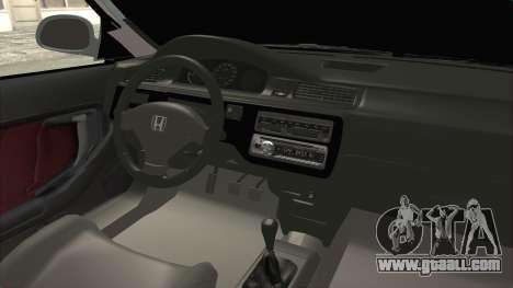 Honda Civic SI Sedan 1992 for GTA San Andreas inner view