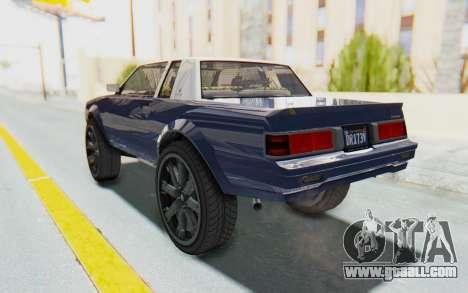 GTA 5 Willard Faction Custom Donk v1 for GTA San Andreas back left view