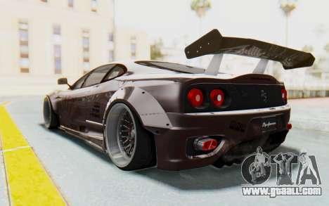 Ferrari 360 Modena Liberty Walk LB Perfomance v1 for GTA San Andreas inner view