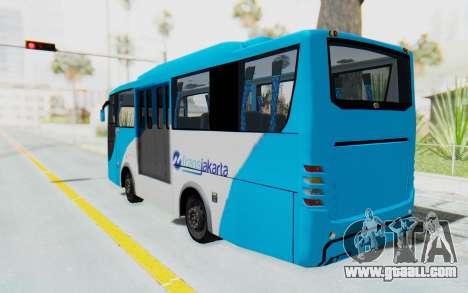 Hino Evo-C Transjakarta Feeder Bus for GTA San Andreas left view