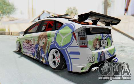 Toyota Prius Hybrid 2011 Hellaflush IF Itasha for GTA San Andreas back left view
