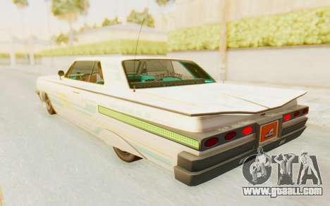 GTA 5 Declasse Voodoo Alternative v1 for GTA San Andreas interior