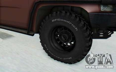 Nissan Patrol Y61 Off Road for GTA San Andreas back view