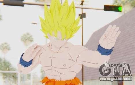 Dragon Ball Xenoverse Goku Shirtless SSJ for GTA San Andreas