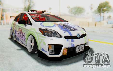 Toyota Prius Hybrid 2011 Hellaflush IF Itasha for GTA San Andreas