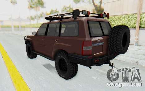Nissan Patrol Y61 Off Road for GTA San Andreas left view