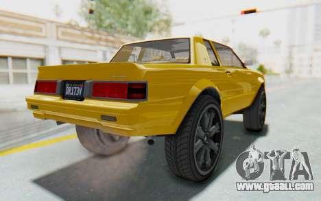 GTA 5 Willard Faction Custom Donk v1 IVF for GTA San Andreas back left view