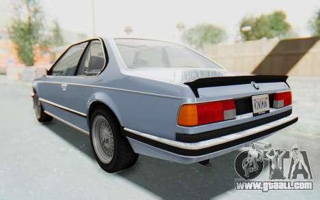 BMW M635 CSi (E24) 1984 IVF PJ1 for GTA San Andreas back left view