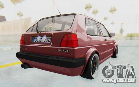 Volkswagen Golf Mk2 for GTA San Andreas left view
