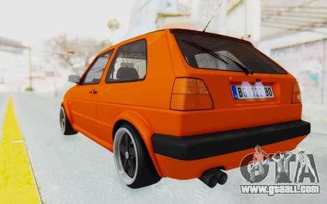Volkswagen Golf 2 GTI 1.6V for GTA San Andreas left view