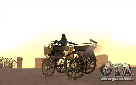 Mercedes-Benz Daimler 1886 for GTA San Andreas back left view