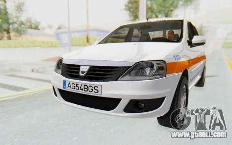 Dacia Logan Facelift Ambulanta for GTA San Andreas right view