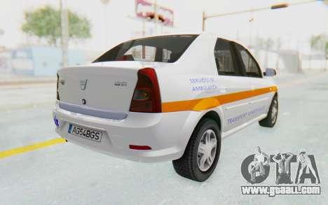 Dacia Logan Facelift Ambulanta for GTA San Andreas left view